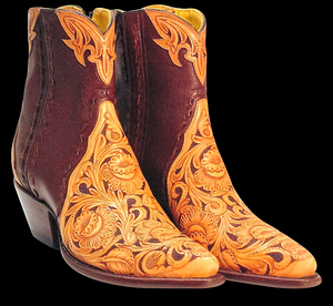 (TEMP) Tooled Barron Ankle Boots