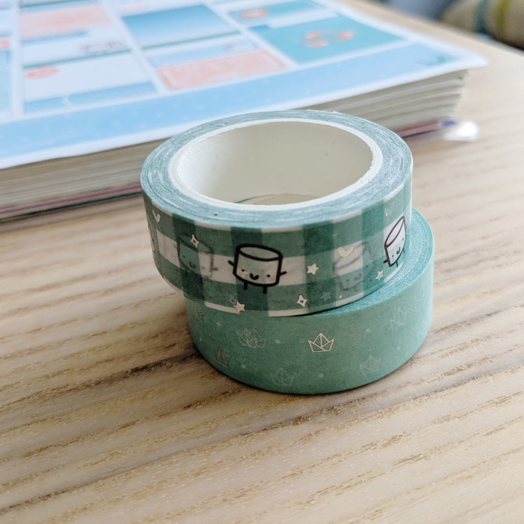Maru Muted Green Set | Washi Tape