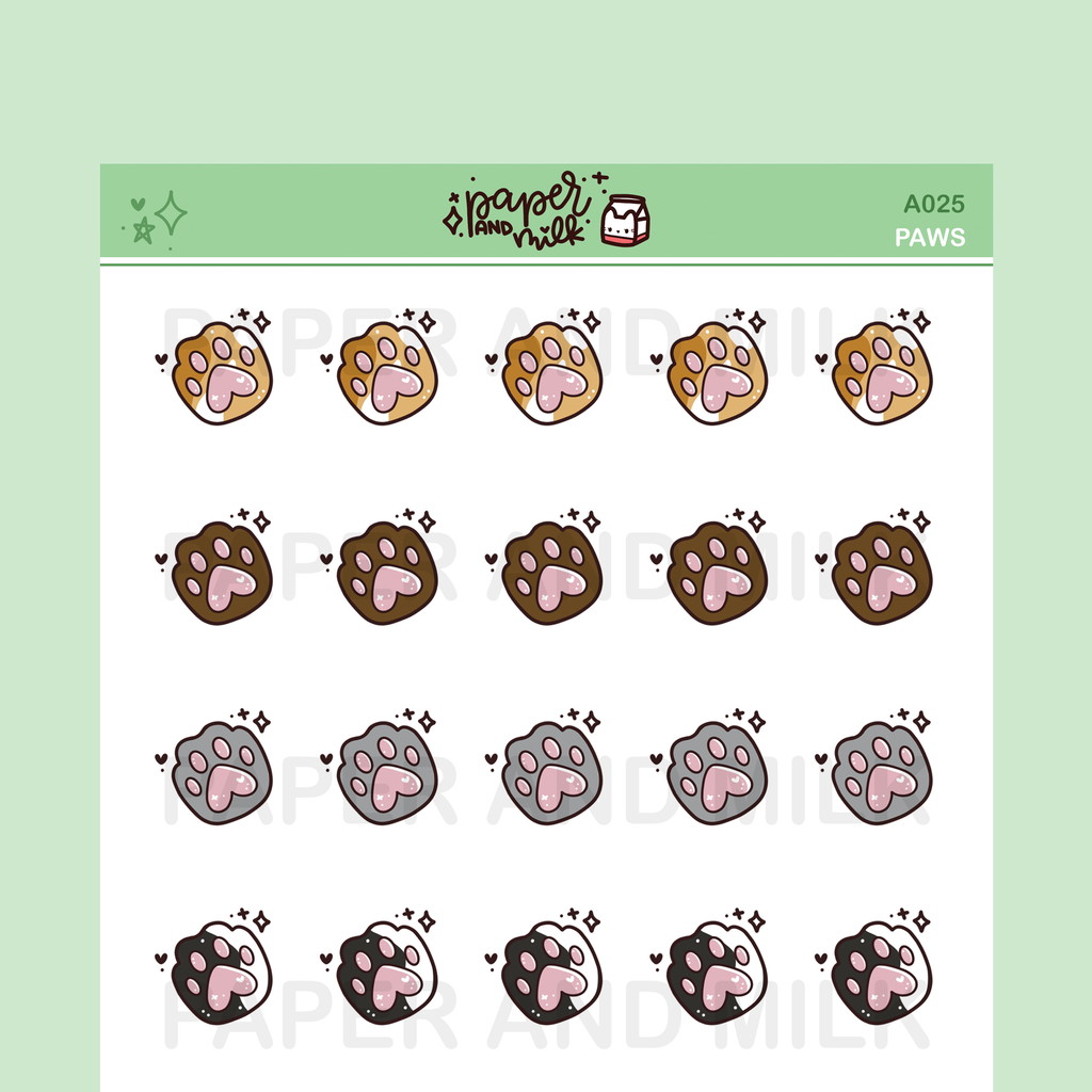 Paws | Doodle Stickers