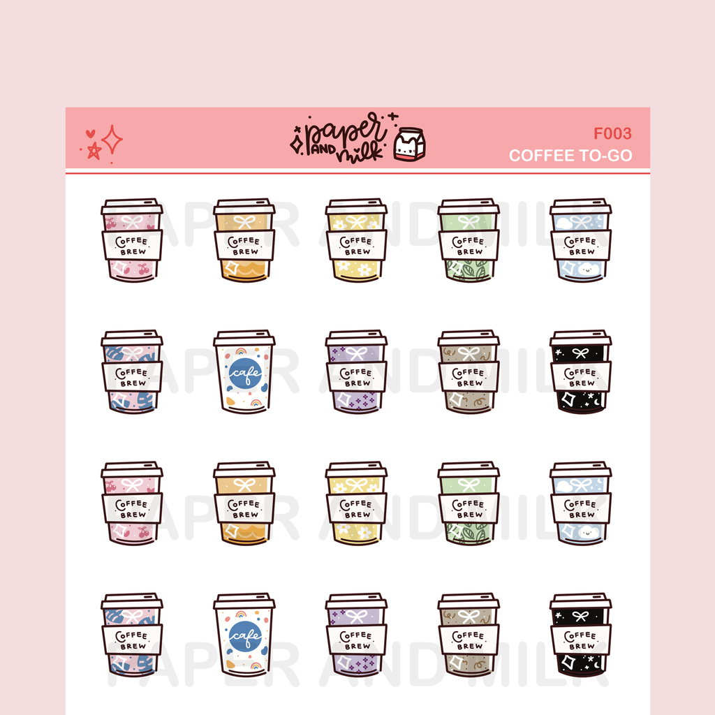 Coffee To-go | Doodle Stickers
