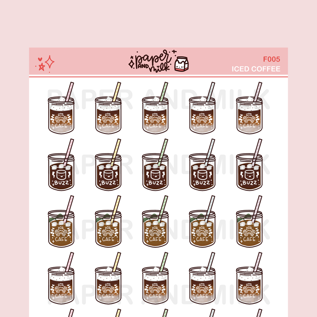 Iced Coffee | Doodle Stickers