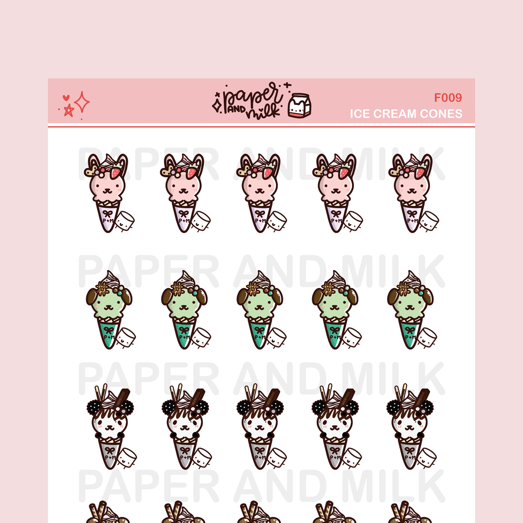 IMPERFECT SALE: Ice Cream | Doodle Stickers