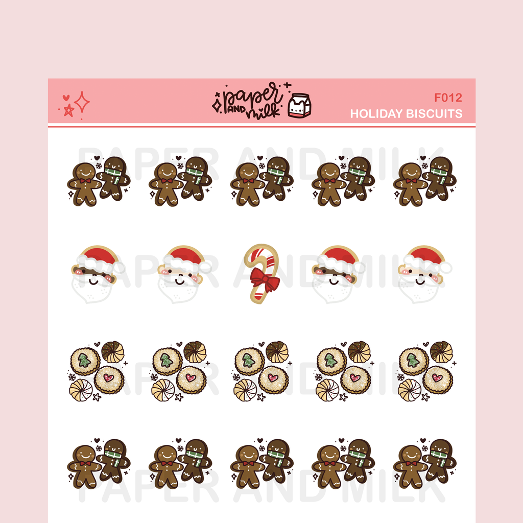 Holiday Biscuits | Doodle Stickers