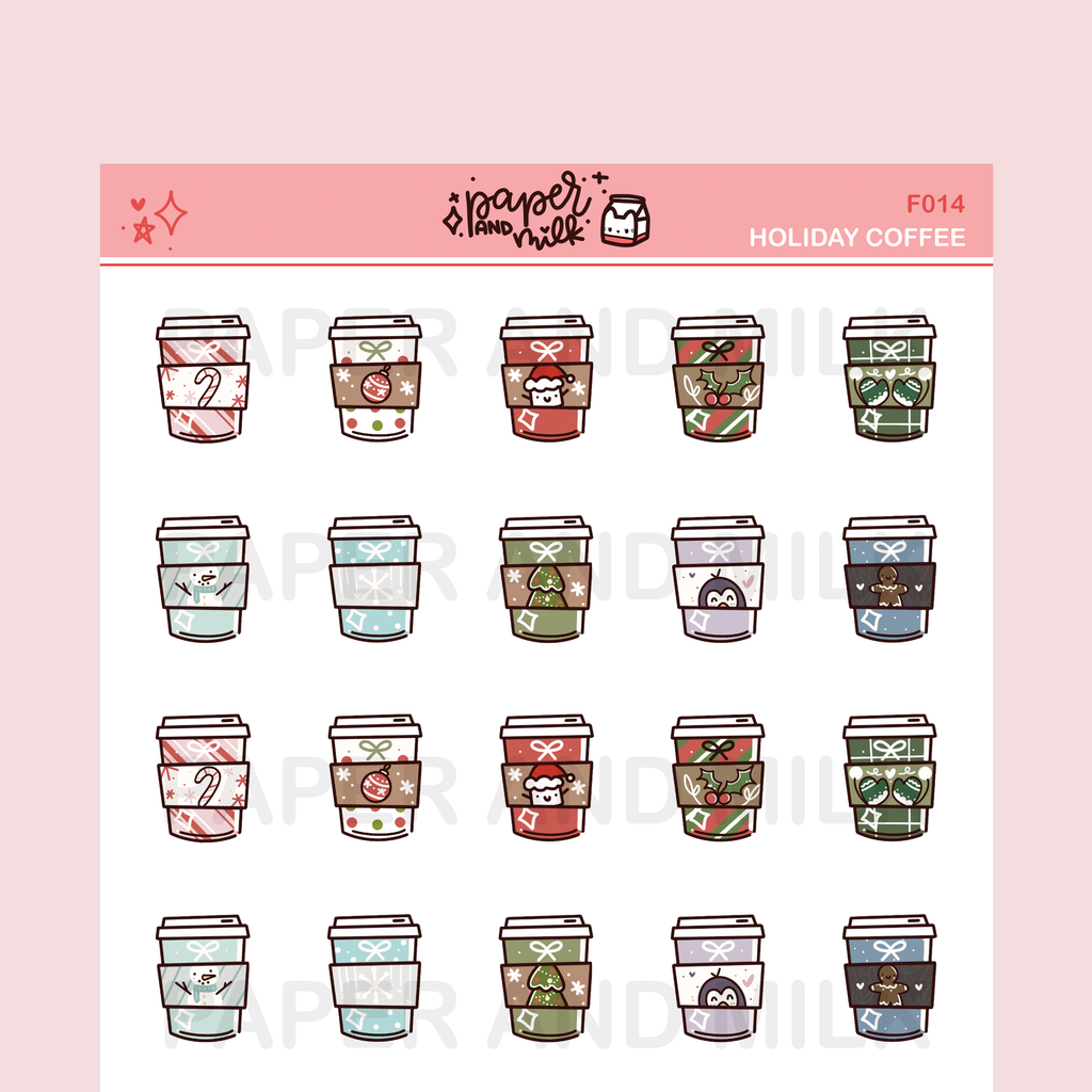 Holiday Coffee | Doodle Stickers
