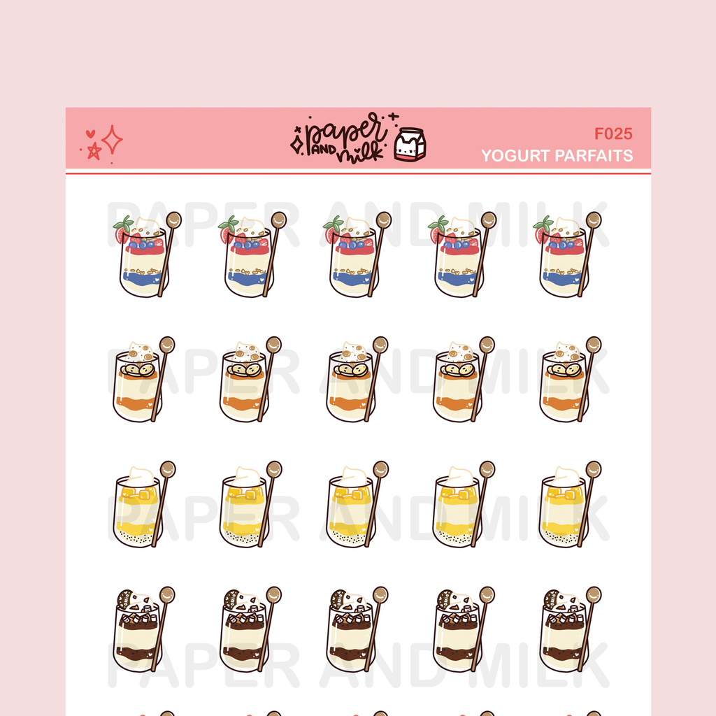 Yogurt Parfaits | Doodle Stickers