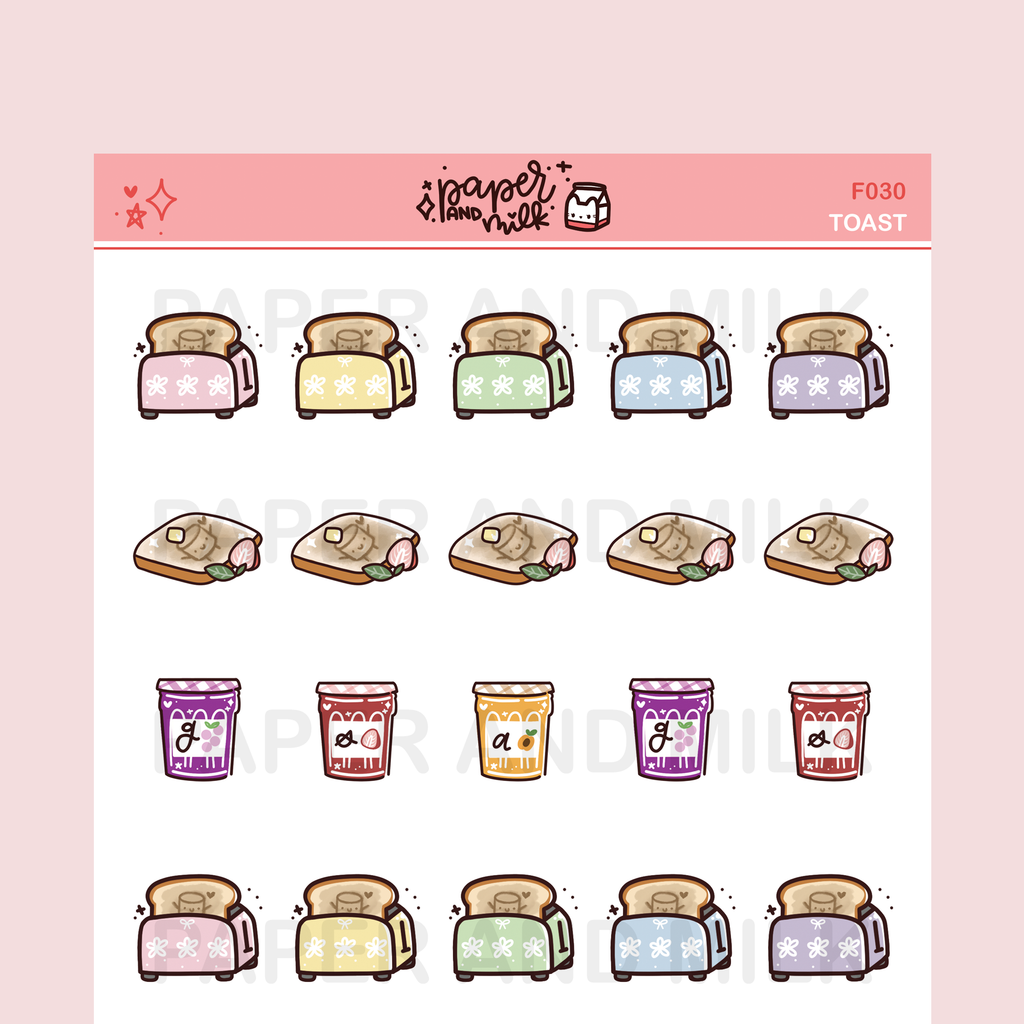 Toast | Doodle Stickers