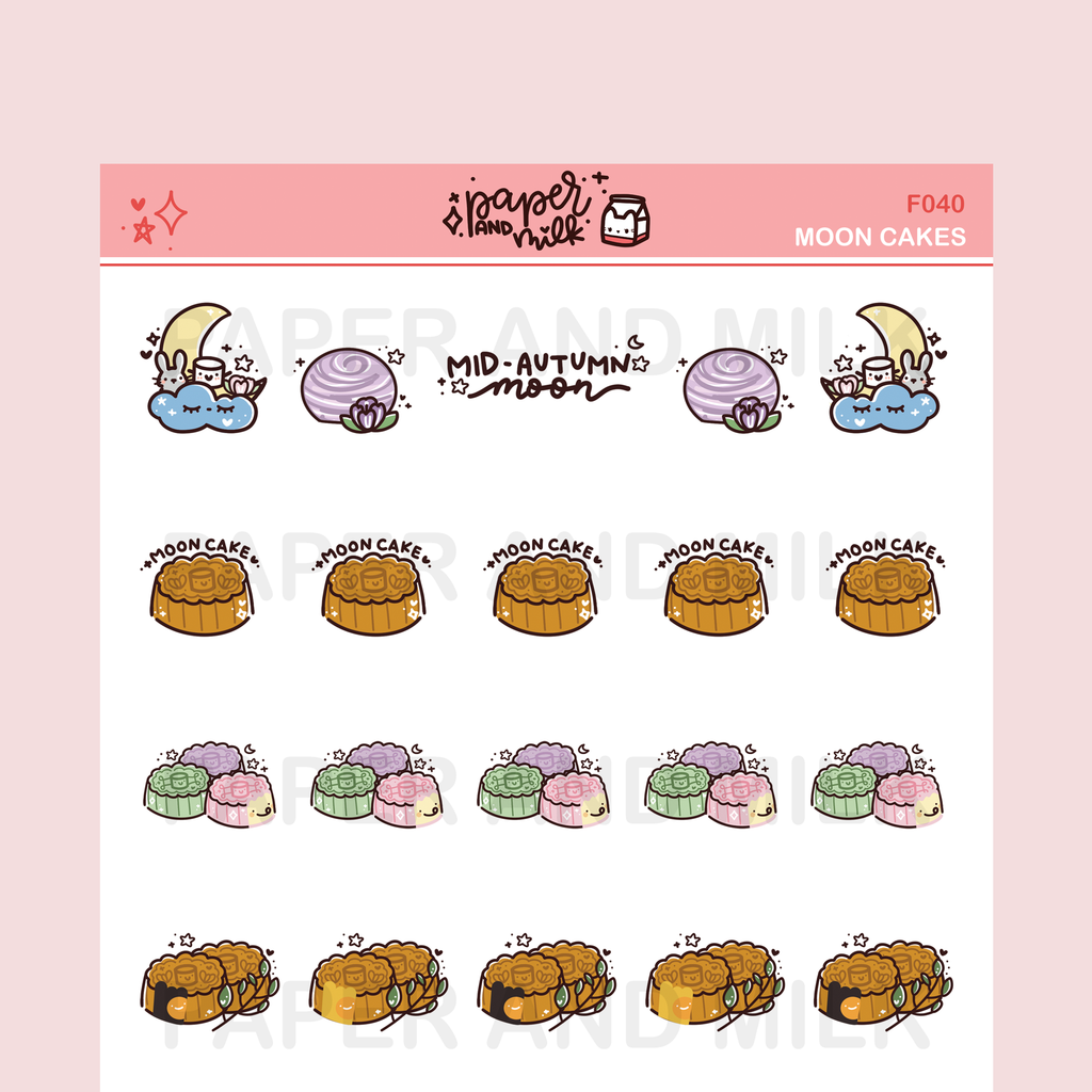 Moon Cakes | Doodle Stickers