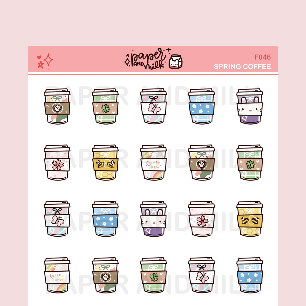 Spring Coffee | Doodle Stickers