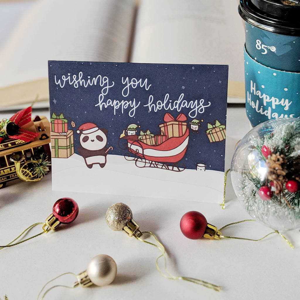 Paper and Milk x Paper Kuma Co Holiday Greeting Cards