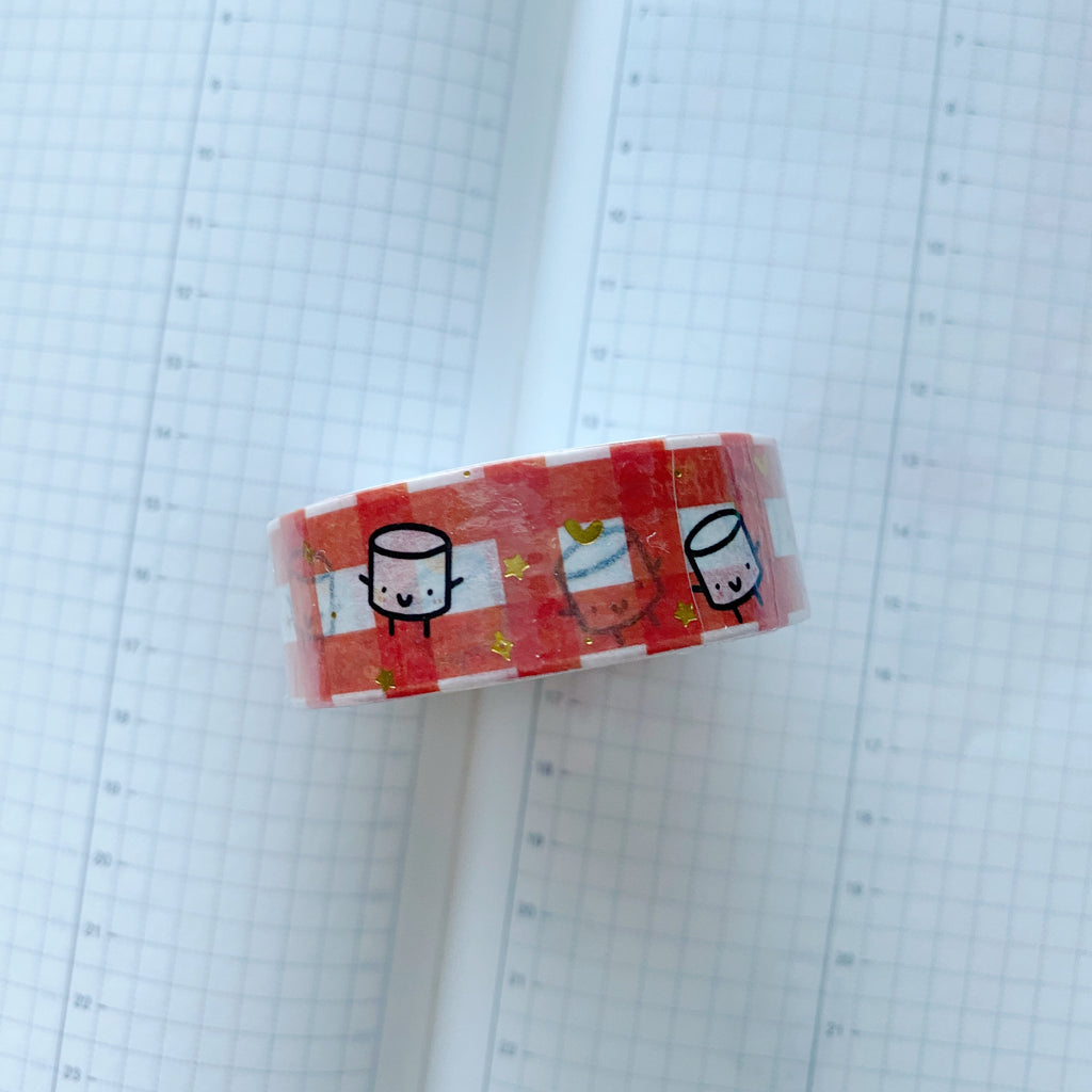 Maru Red Gingham | Washi Tape
