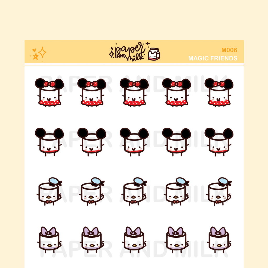 Characters | Maru the Mini Marshmallow Stickers