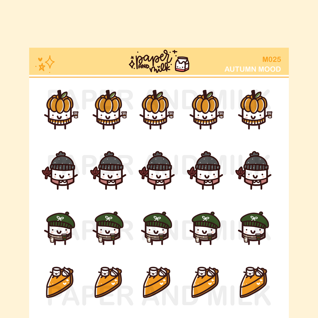 Autumn Mood | Maru the Mini Marshmallow Stickers