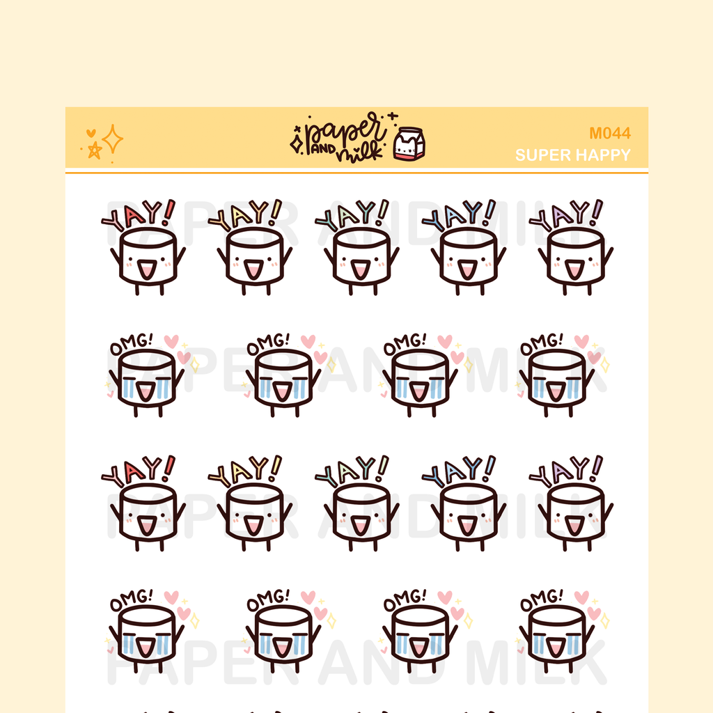 Super Happy | Maru the Mini Marshmallow Stickers