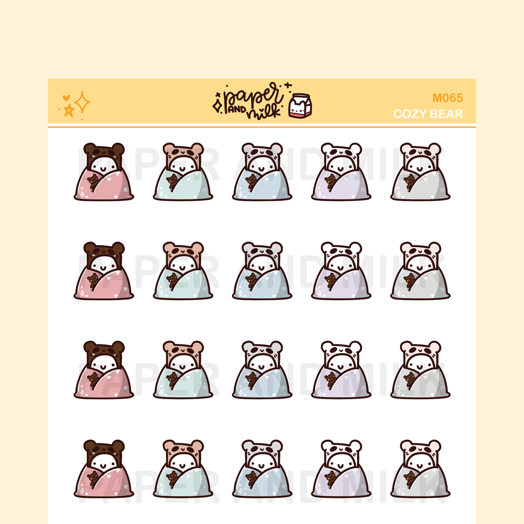 Cozy Bear | Maru the Mini Marshmallow Stickers