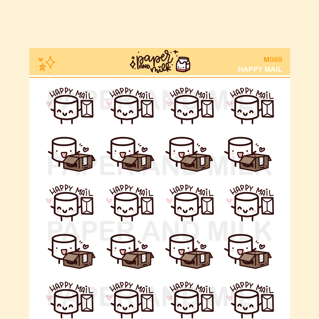 Happy Mail | Maru the Mini Marshmallow Stickers