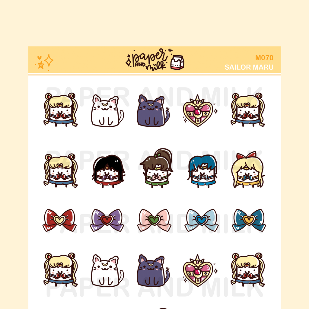 Sailor Maru | Maru the Mini Marshmallow Stickers