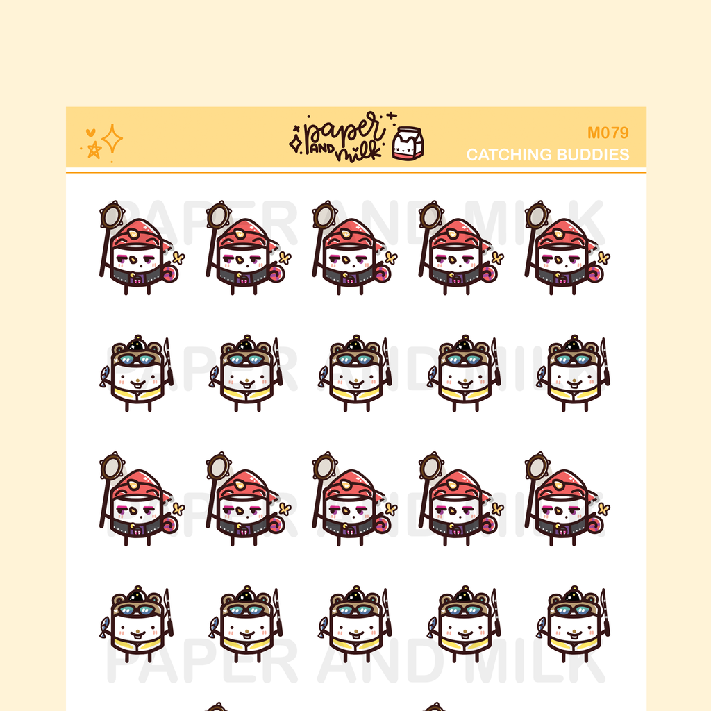Catching Buddies | Maru the Mini Marshmallow Stickers