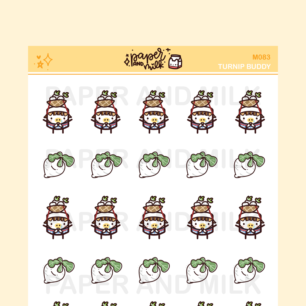 Turnip Buddy | Maru the Mini Marshmallow Stickers