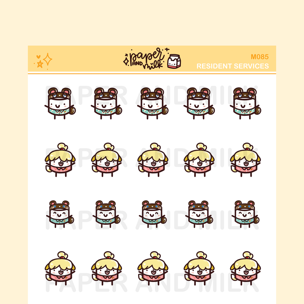 Resident Buddies | Maru the Mini Marshmallow Stickers