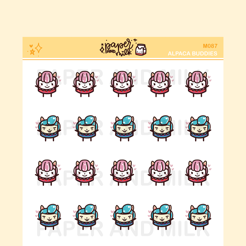 Alpaca Buddies | Maru the Mini Marshmallow Stickers
