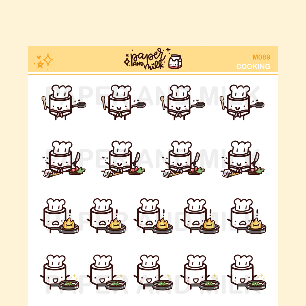 Cooking | Maru the Mini Marshmallow Stickers