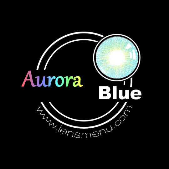 EyeMi® Aurora 1-Year Blue Colored Contact Lenses