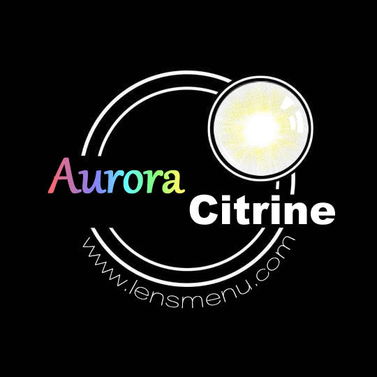 EyeMi® Aurora 1-Year Citrine Colored Contact Lenses