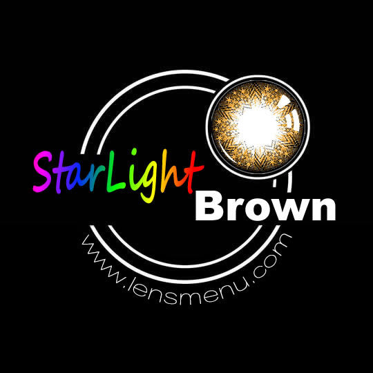 EyeMi® StarLight 1-Year Brown Colored Contact Lenses