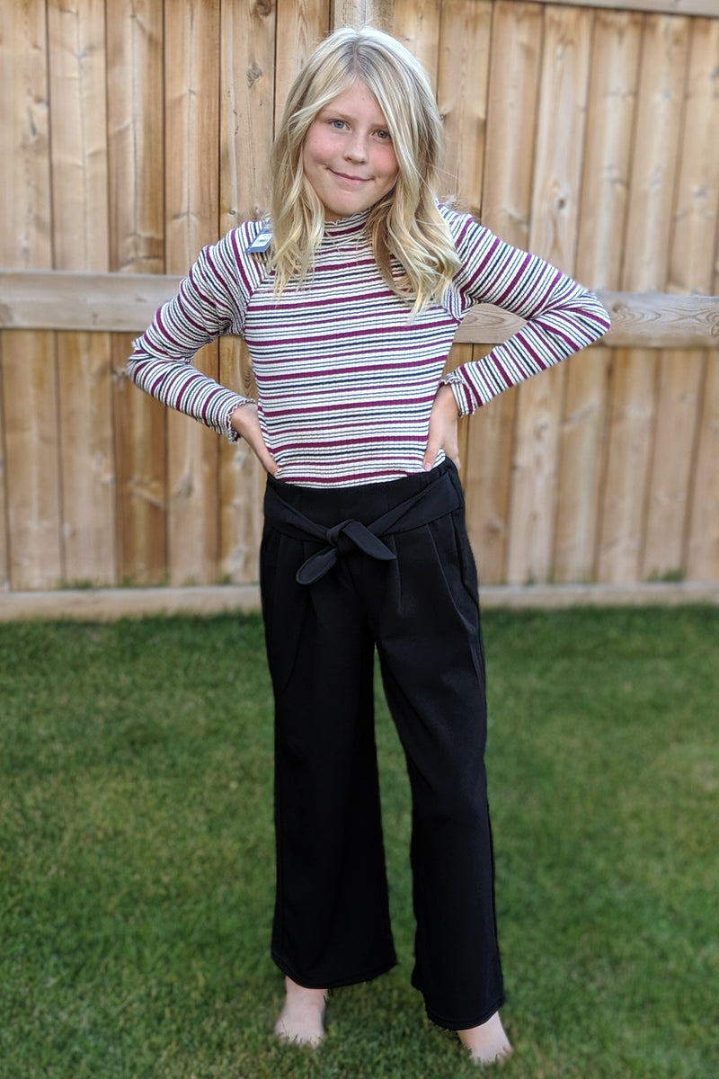 Wide Leg Pants with Tie Waist