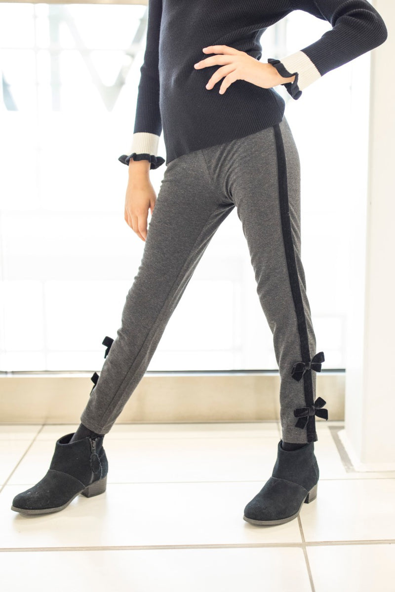 Leggings with Velvet Detail