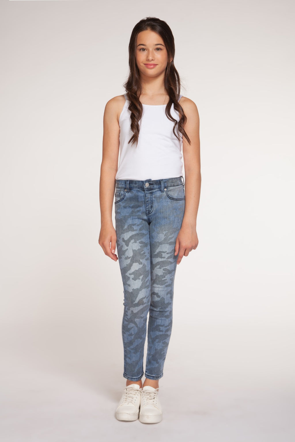 Pull-On Jeans with Camo Detail