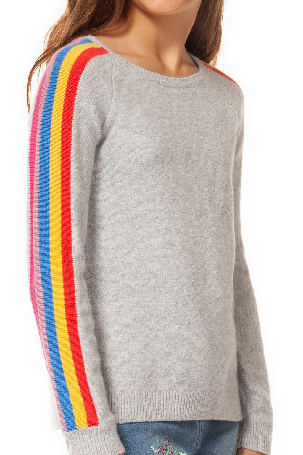 Rainbow Scoop Neck Sweater