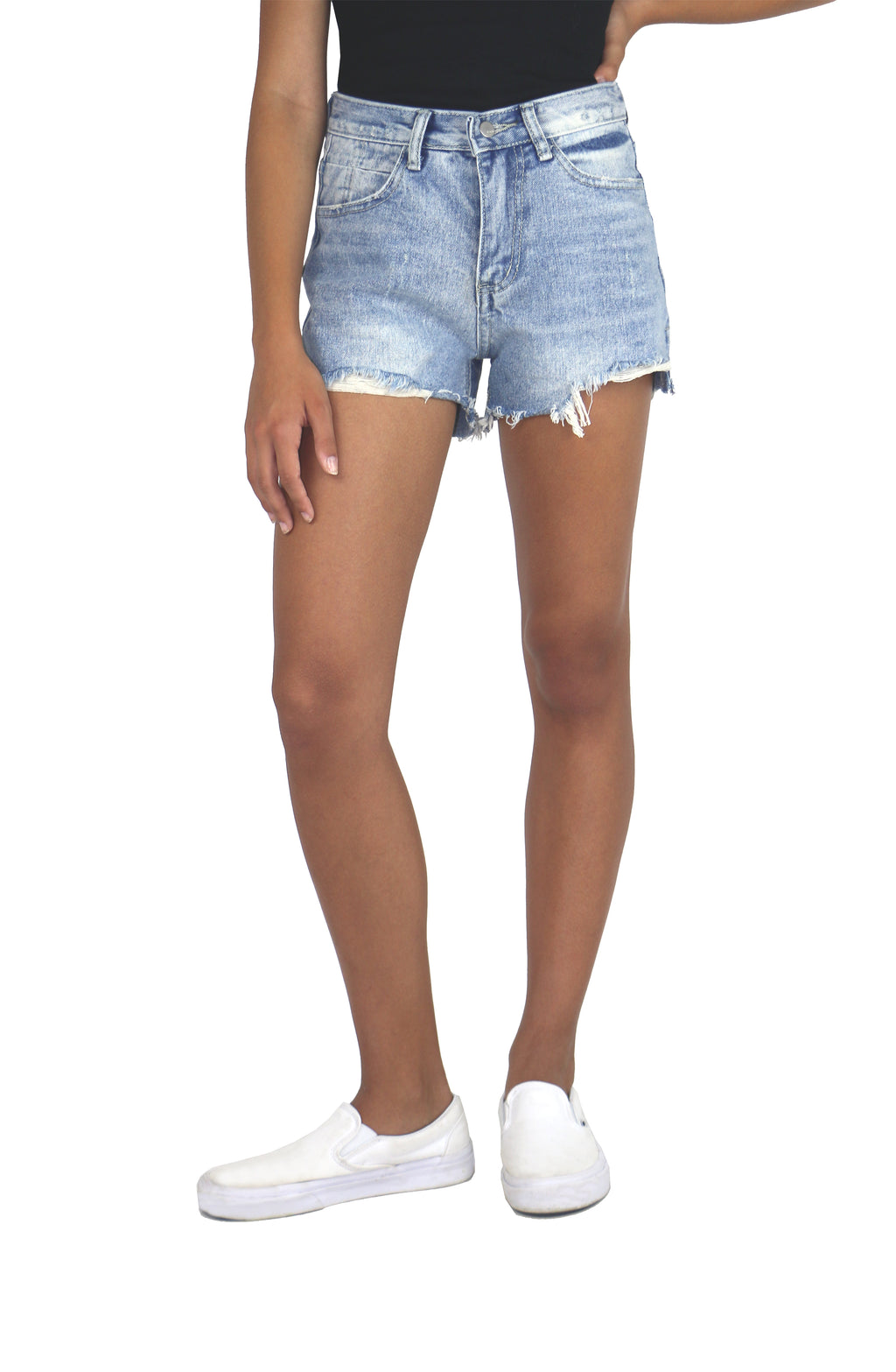 5 Pocket Destructed Hem Short
