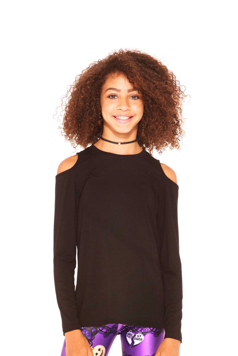 Heather Rayon Top With Cold Shoulder