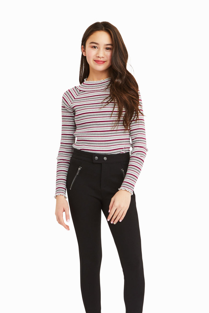 Adalynn Long Sleeve Rib Top