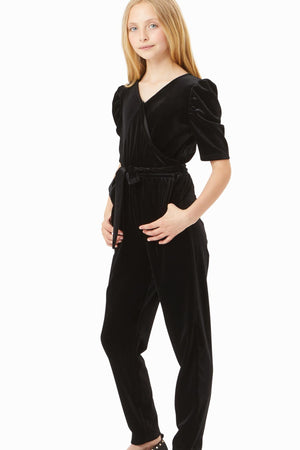 Briella Velour Wrap Jumpsuit