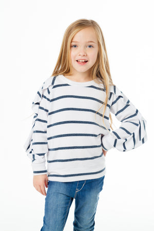 Ruffle Raglan Sweater (Love Knit)