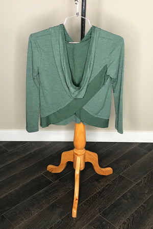 Hooded Double Knit Top