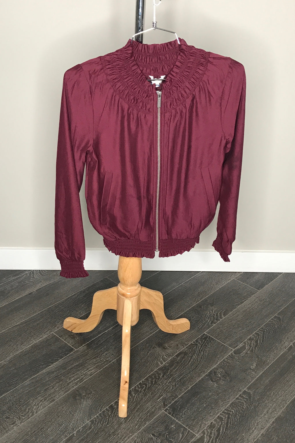Satin Zip Up Jacket