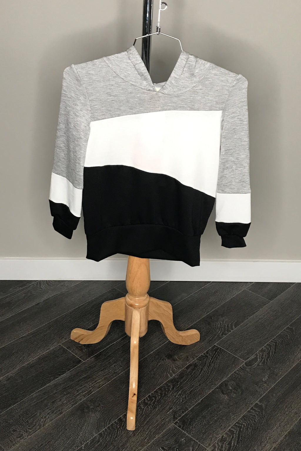 Colorblock Sweater With Hood