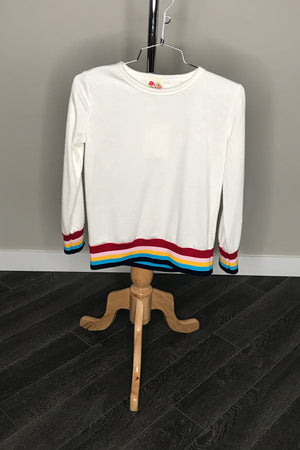 Long Sleeve Sweater With Colorblock Detail