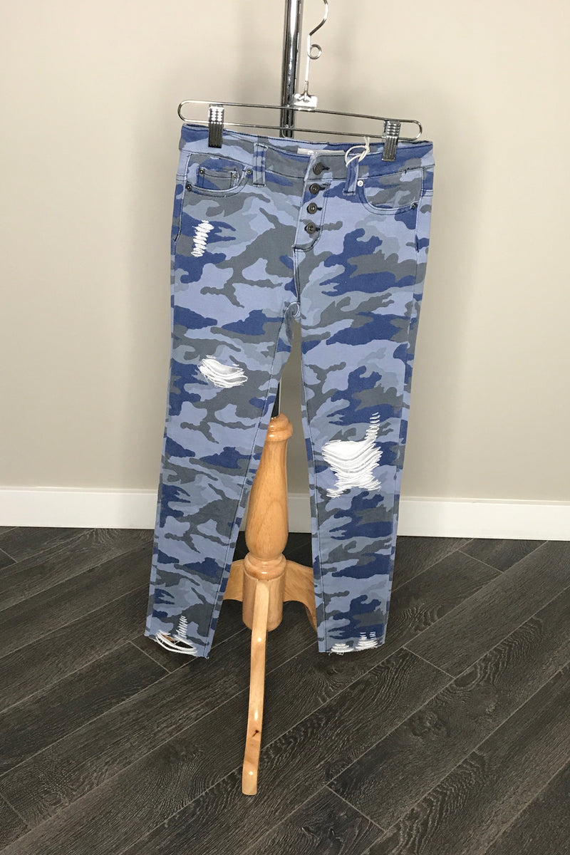Camo Four Button Skinnies