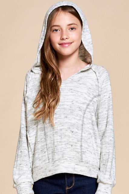 Long Sleeve Heather Hoodie