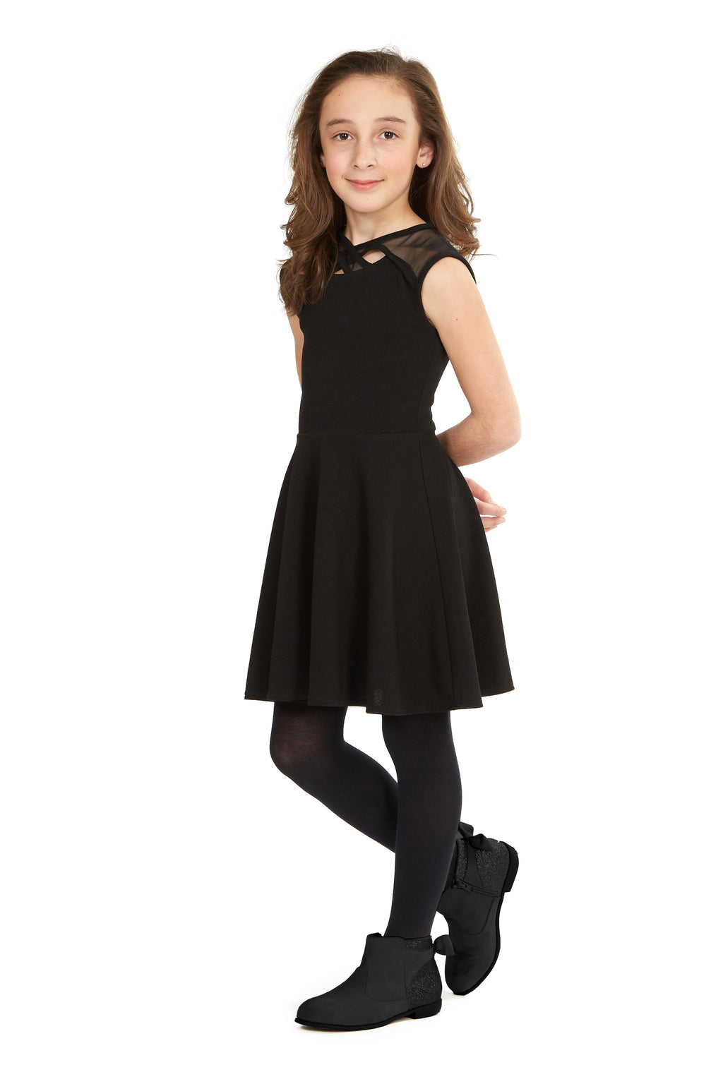 Little Black Dress With Criss Cross Detail