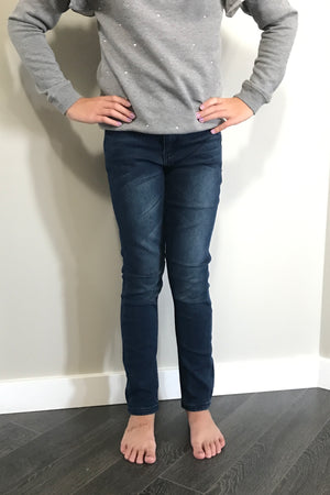 Dark Wash Knit Denim Jegging