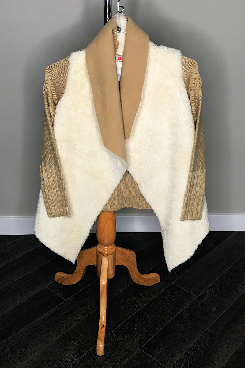 Sheepskin Knit Cardigan