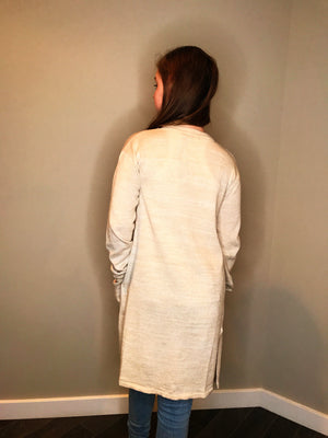 Long Sleeve Cardigan with Side Slits