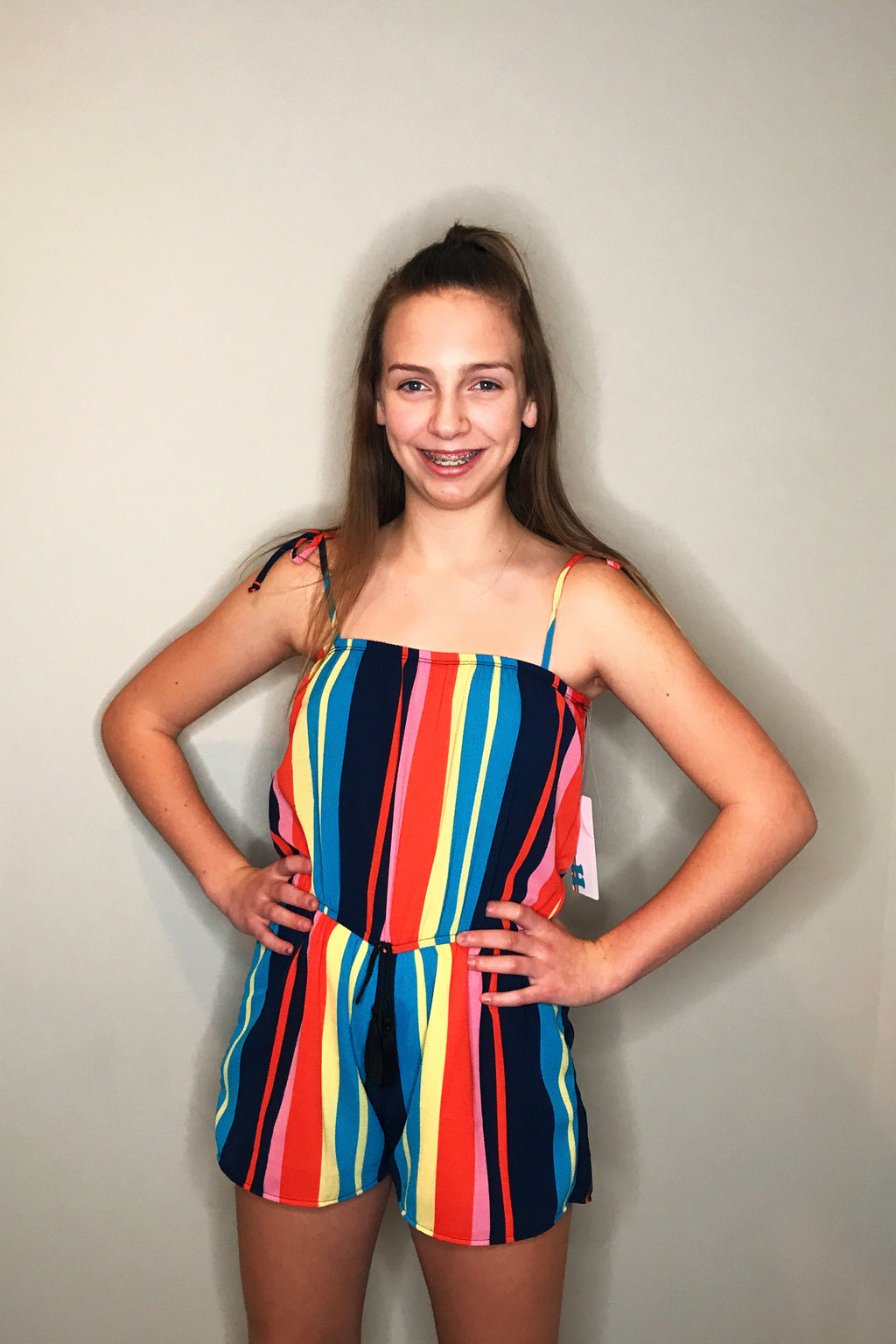 Multi Coloured Stripe Romper
