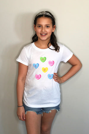Candy Hearts Tween Tee