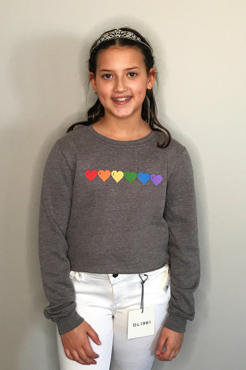 Rainbow Hearts Sweatshirt